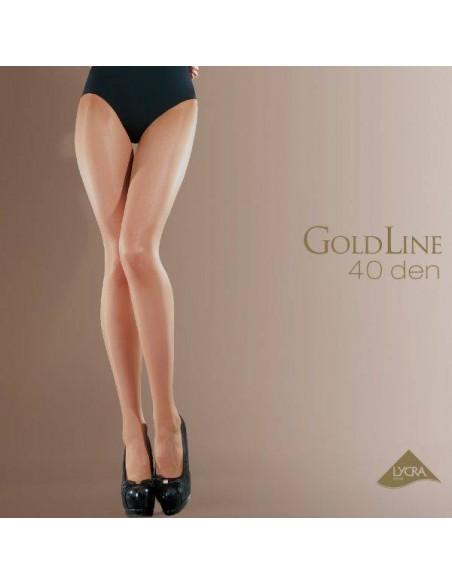 pantis de seda elegantes con brillo Gold Line