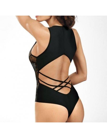 Body de encaje negro Black Diamond