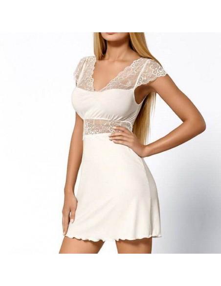 Camisón sexy ajustado blanco Hellen