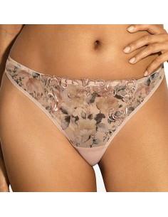 Tanga bordado con motivos florales Amala