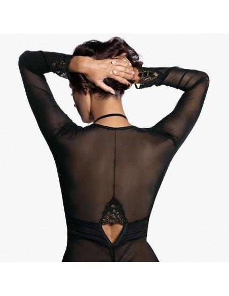 Body negro con encaje y aberturas Lidia