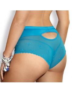 Panty tipo culotte con encaje turquesa Twist