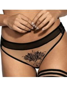 Tanga brasileño con encaje efecto tatuaje Seductive Woman V-903