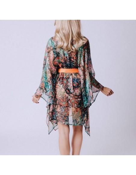 Kimono para playa con estampado Baia do Sancho