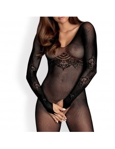 Bodystocking enterizo negro Obsessive N120