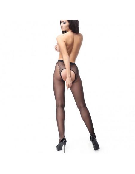 Medias sexys con abertura central P201