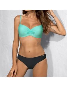 Bikini para mujer escote push-up bicolor Darla