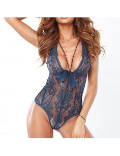 Body de mujer sexy con encaje azul Heaven