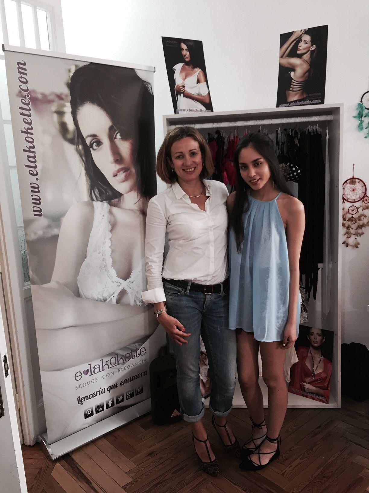 Presentacíón de lenceria elegante sexy presentación con bloguera Maria Jose de Glamour