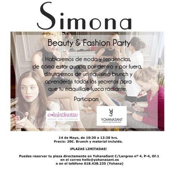 beauty&fashion party lenceria moda maquillaje