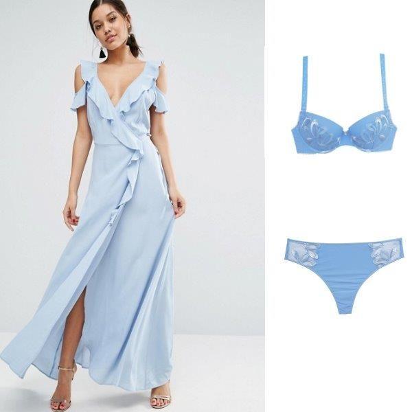 lenceria para bodas azul celeste invitada