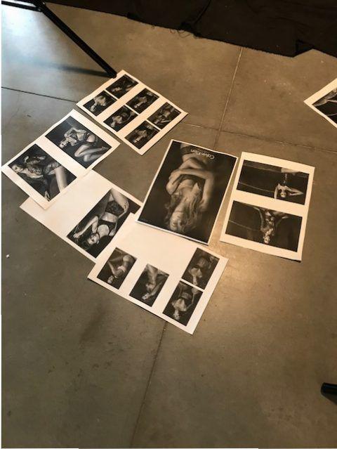 sesión de fotos de lenceria con Blanca Romero