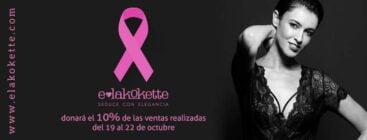 Lenceria E-lakokette se suma a la lucha contra el cáncer de mama