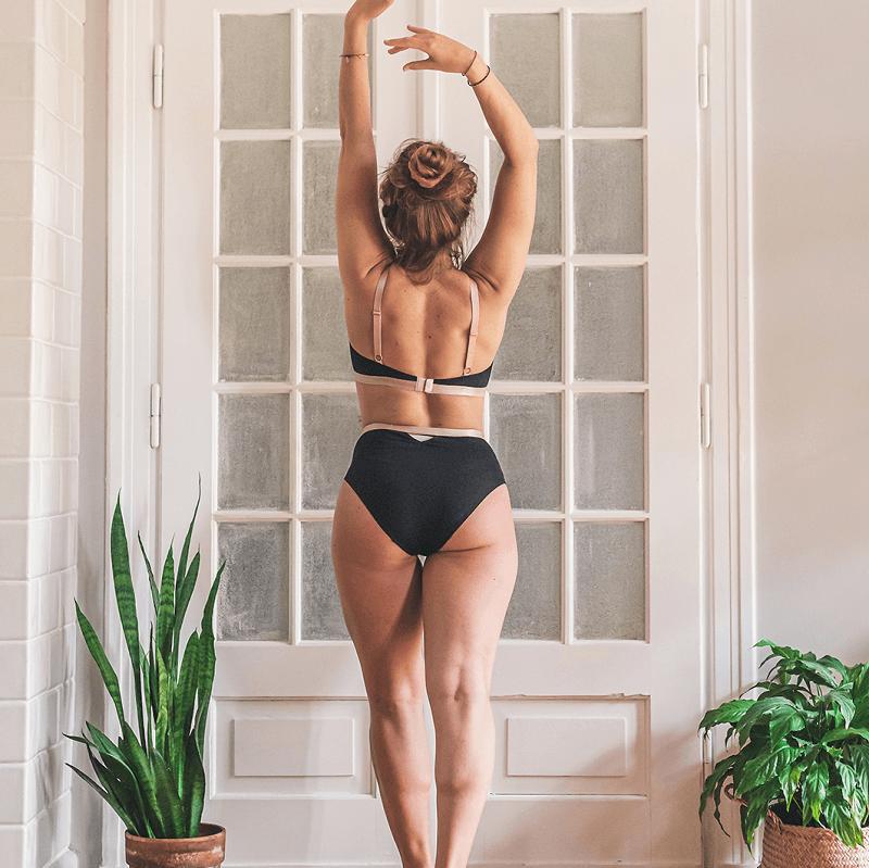 ropa interior sostenible Miss Liberte negro